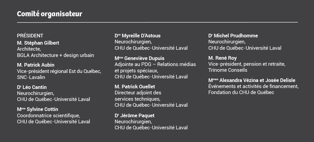 Membres du comité organisateurs