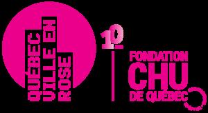 Logo Québec ville en rose spécial 10e